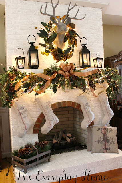 A Woodland Christmas Mantel by The Everyday Home