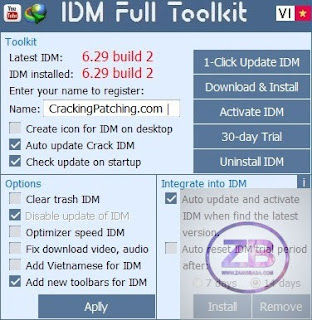 ToolKit Crack IDM Internet Download Manager Permanently Fake Serial Number