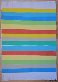 dywan z papieru - paski