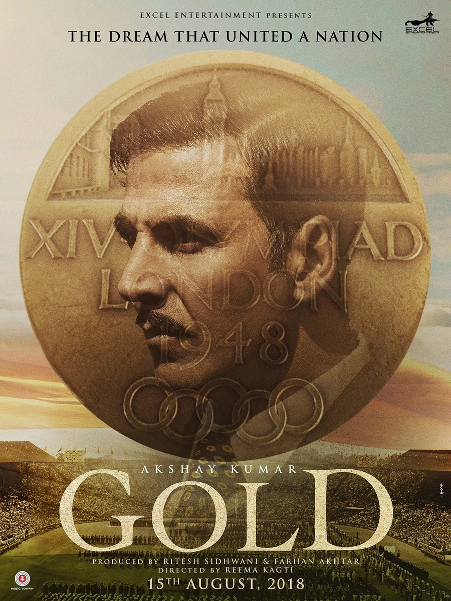 Akshay Kumar Treats Fans with 'Gold' Poster