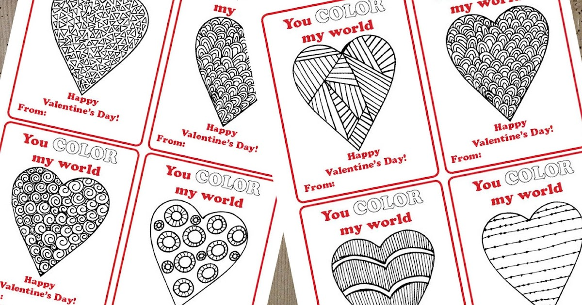 photo regarding You Color My World Printable identify A Active Count on: By yourself Shade My Globe Valentines (Free of charge Printable)