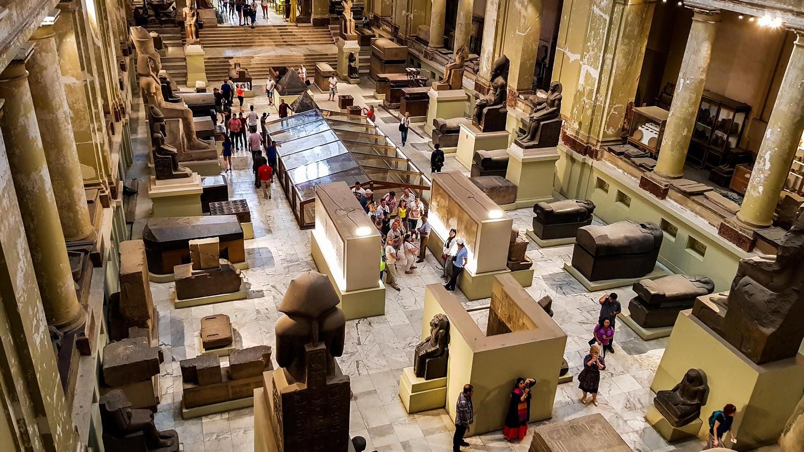 Interior do Museu do Cairo - O que fazer no Cairo, Egito