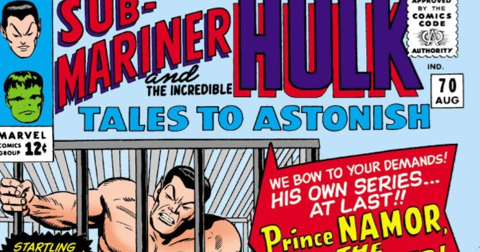 Namor Avenging Son: Tales To Astonish (1959) #70,