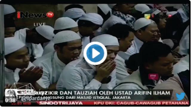 Video: Pecah, Tangis Jamaah Aksi 112 Pecah Saat Zikir Bersama Ustadz Arifin Ilham