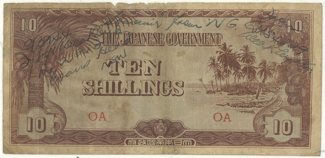 Oceania 10 Shillings JIM Short Snorter