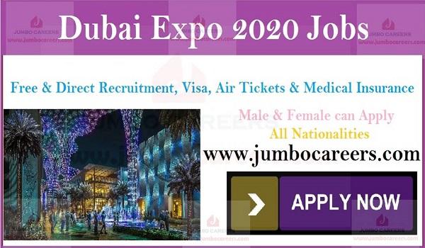 Job Vacancies in Dubai Expo 2020, Recent UAE job vacancies,