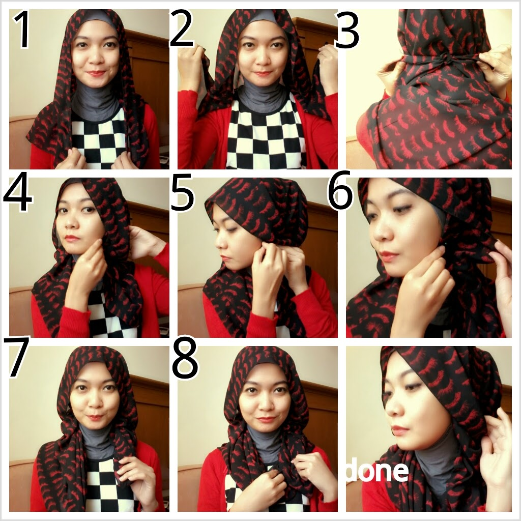 20 Gambar Lengkap Tutorial Hijab Pashmina Pemula Terbaru Tutorial