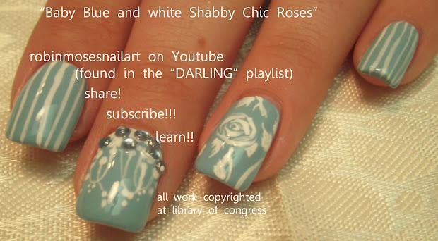 nail art design tiffany blue