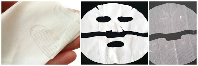 Bottom part folded mask, sheet mask after use, mesh protective layer.