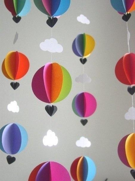 Бумажные воздушные шары
