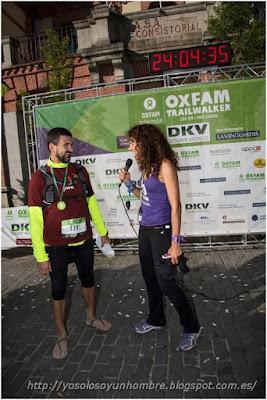 después de los 100 km de la Oxfam Trailwalker, los pies intactos