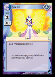 My Little Pony Uh-oh High Magic CCG Card