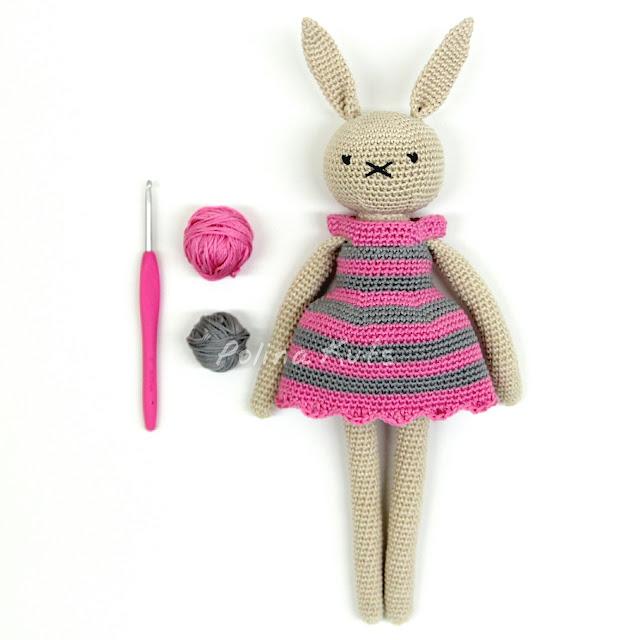 Amigurumi Rabbit Drees-Free Pattern