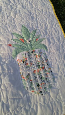 Selvage Fruits of the Spirit Pineapple Quilt by Laura Piland Slice of Pi Quilts
