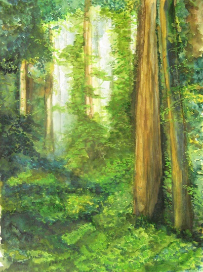 Woods, painting by Girijaa Upadhyay (part of her portfolio on www.indiaart.com)