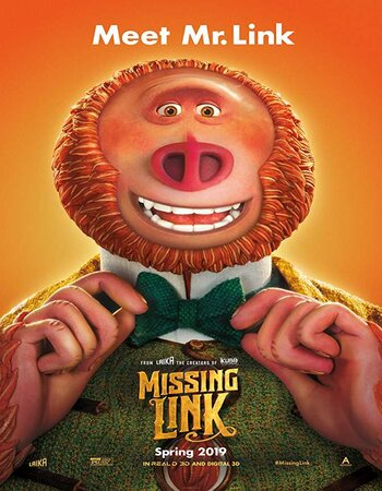 Missing Link (2019) English 480p HDRip x264 300MB ESubs Movie Download