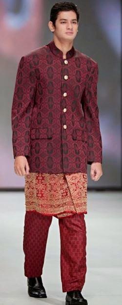 Contoh Baju batik muslim pria remaja