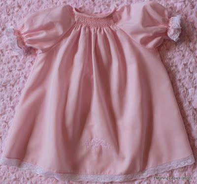 Mommy S Apron Strings Pink Smocked Old Fashioned Baby Dress