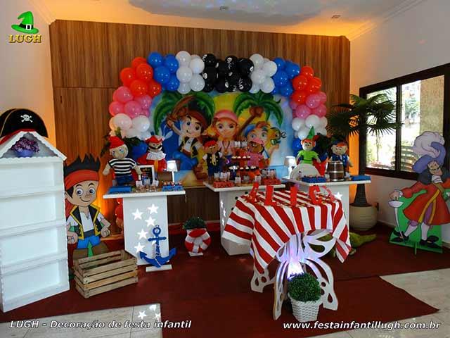 Decoração festa Jake e os Piratas da Terra do Nunca- festa de aniversário infantil