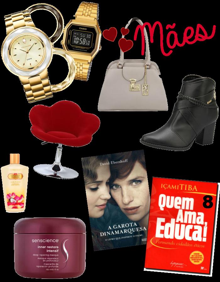 Presentes para o Dia das Mães, relógio casio, Garota dinamarquesa, hidratante victorias secrets