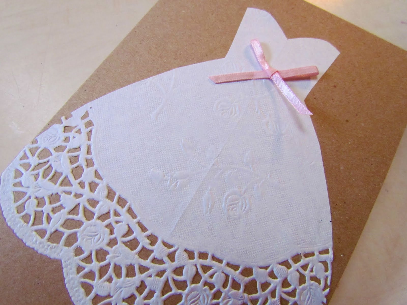 twobutterflies: Easy DIY Bridal Shower Card