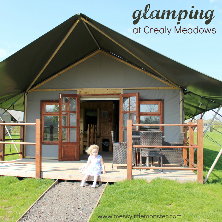 Glamping at Crealy Meadows Review. Safari Plus Glamping Tents. Family Glamping break in Devon, UK. Crealy adventure park.