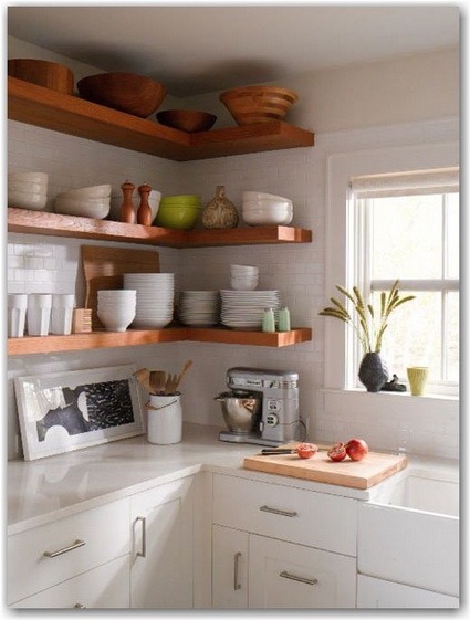 Advantages of open shelves in kitchens 8