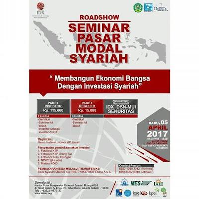 ROAD SHOW Seminar Pasar Modal Syariah