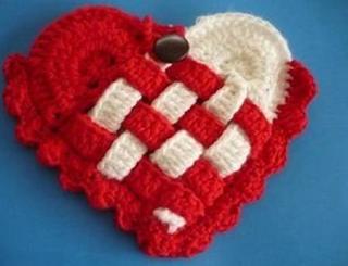 Yünden Örgü Kalp Yapımı