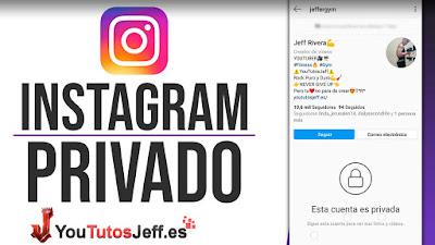 como poner en privado instagram