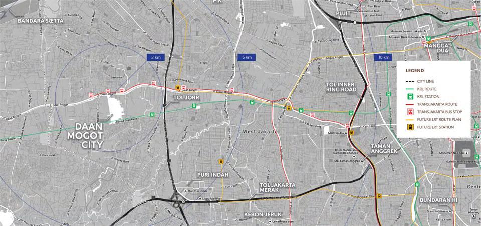 Peta Lokasi DAMOCi - Daan Mogot City