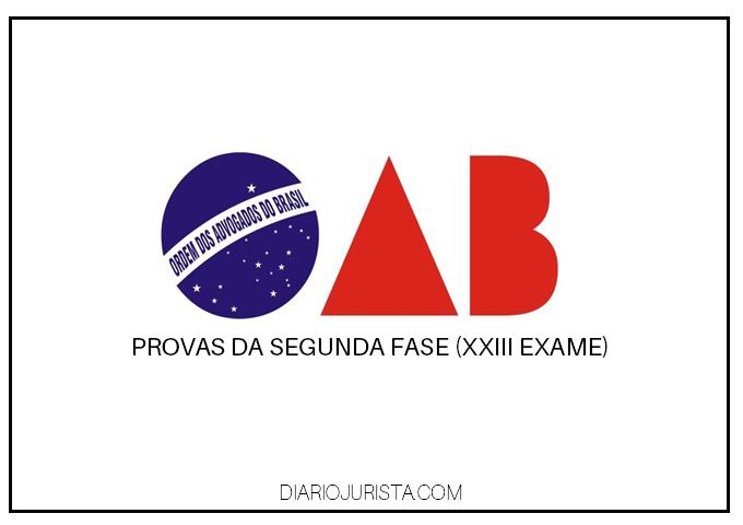 XXIII exame da OAB: Provas e gabaritos da 2ª fase