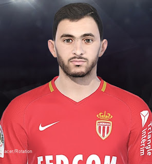 PES 2018 Faces Rachid Ghezzal by Facemaker Tiitoo