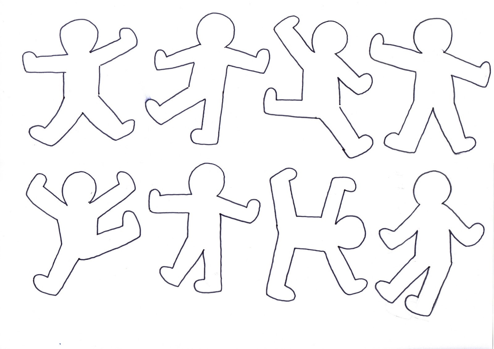 Maestra mariangela schede progetto artelandia for Keith haring figure templates