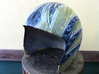 1147827488 - カスタムペイント工程  ジェットヘルメット スカル クリアースピニング