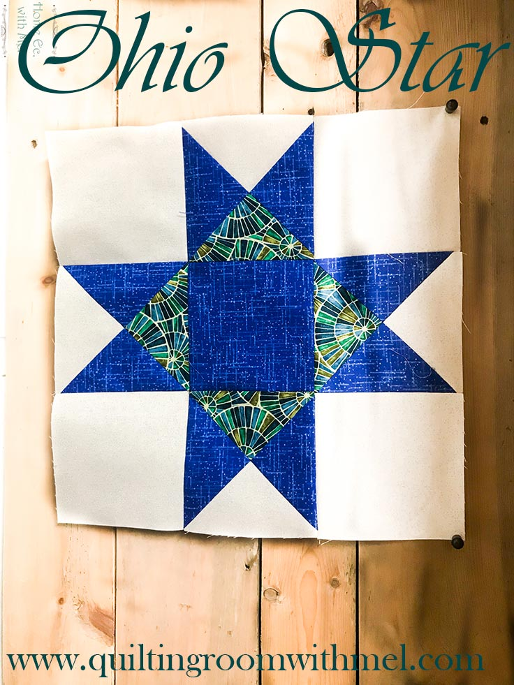 Join us in the Facebook 2018 block of the month project! The first block is the Ohio Star Quilt block.