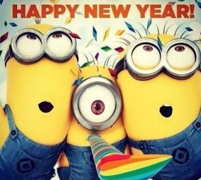 Gambar Selamat Tahun Baru Kartun Minion Lucu Kocak