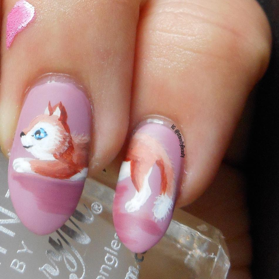 Freehand Cat & Fish Valentine\'s Day Nails | IthinityBeauty.com Nail ...