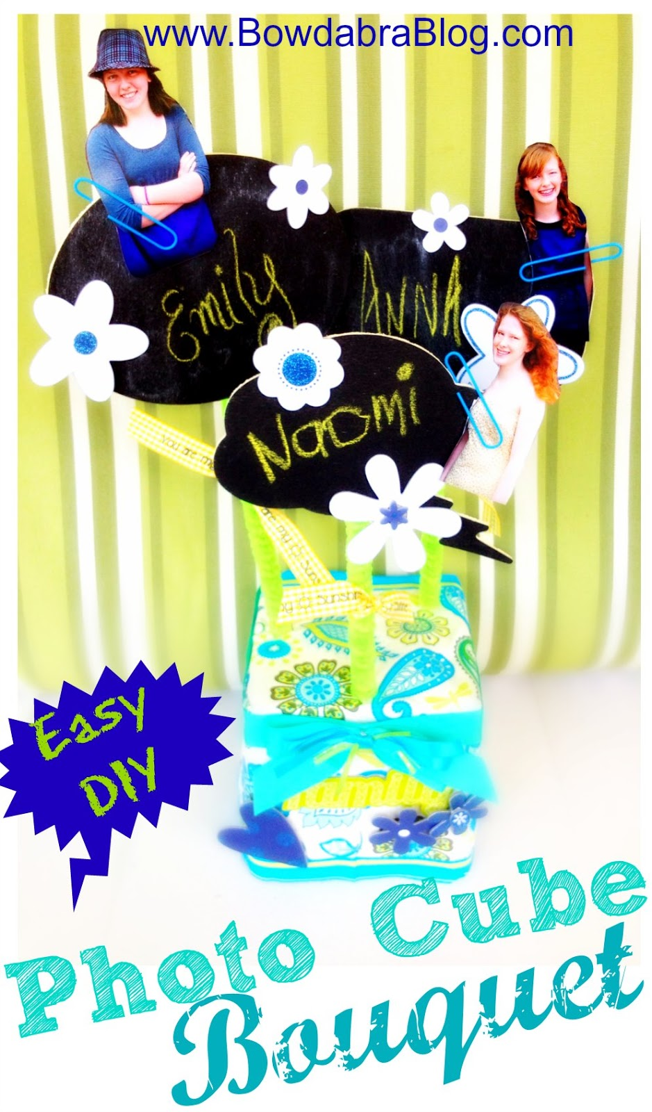 Susieqtpies Cafe Easy Craft Photo Cube Bouquet For Grandparents Day
