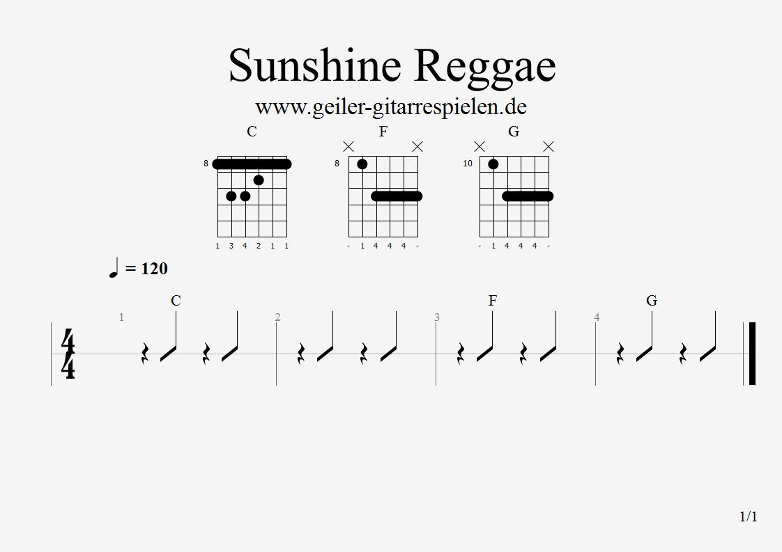 Coole Reggae-Griffe | Einfach geiler Gitarre spielen!