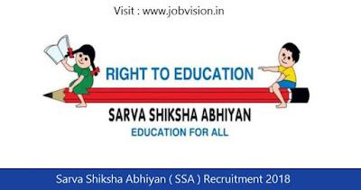 Sarva Shiksha Abhiyan ( SSA ) Recruitment 2018