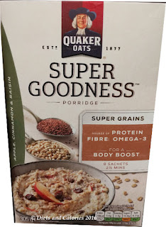 Quaker Oats Super Goodness pple cinnamon raisin Porridge