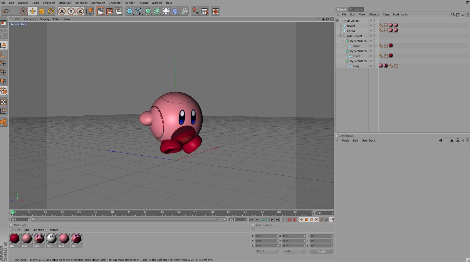Cinema 4d blog : Kirby character