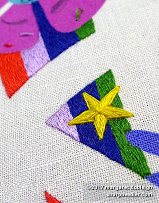 SFSNAD Flower Power Challenge: Golden star with colourful stripes