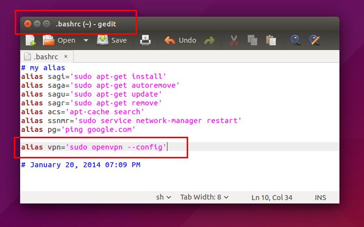 Ubuntu Buzz !: How To Install and Use OpenVPN Client on Ubuntu