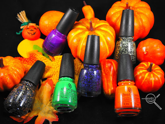Mikrosvet by Ellen: SWATCHES: CHINA GLAZE - Ghouls' Night Out (Halloween collection)