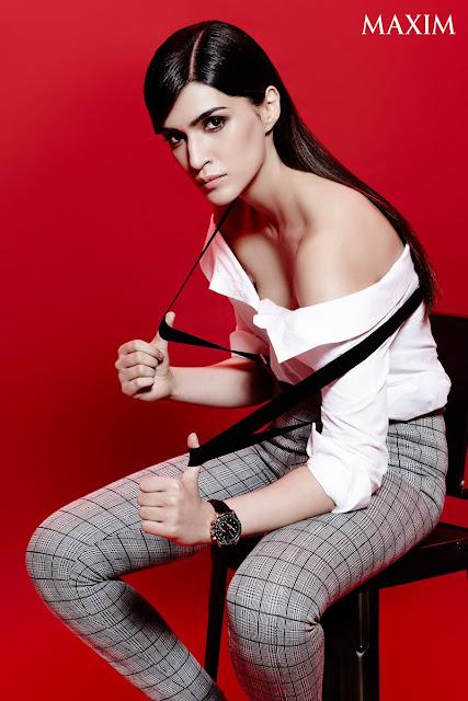 Kriti Sanon's Latest Maxim India Shoot Hot sexy cleavage