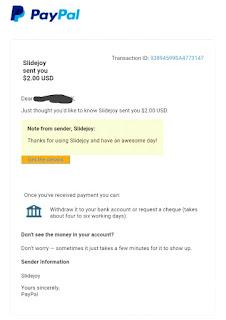 Slidejoy+payment+proof+paypal
