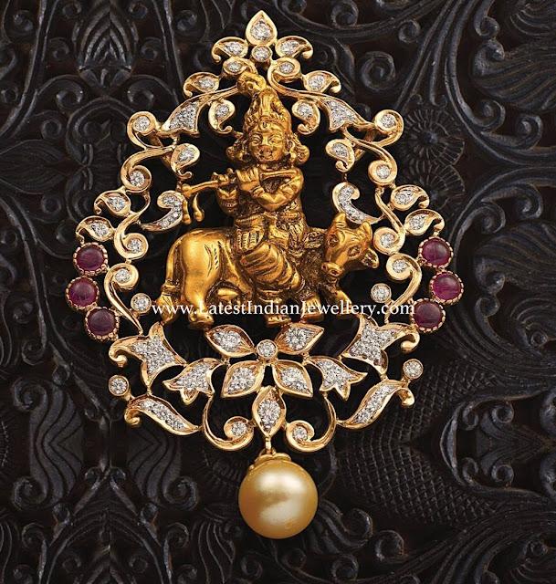 Diamond Krishna Pendant