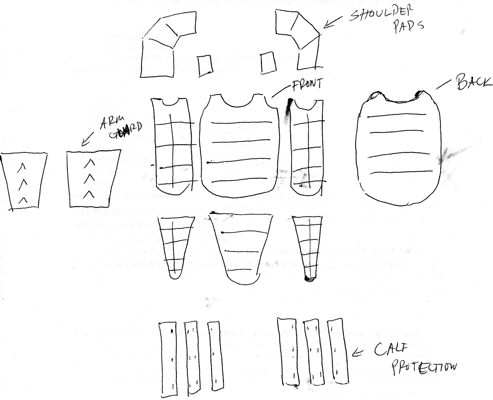 Art 381 cardboard samuria or ninja for Cardboard armour template
